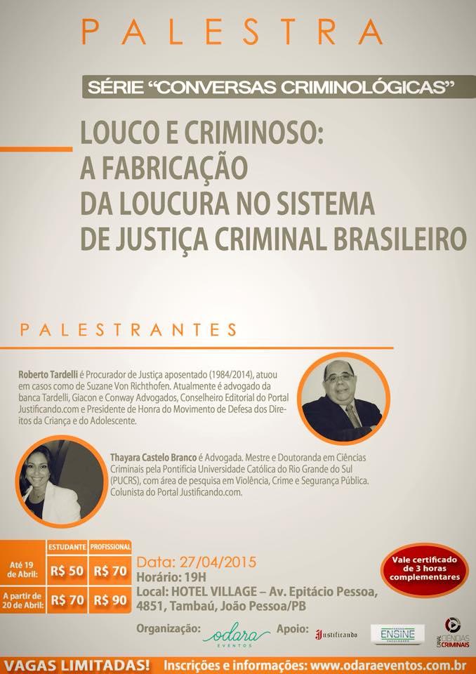 """Série """"Conversas Criminológicas"""" – Louco e Criminoso"""
