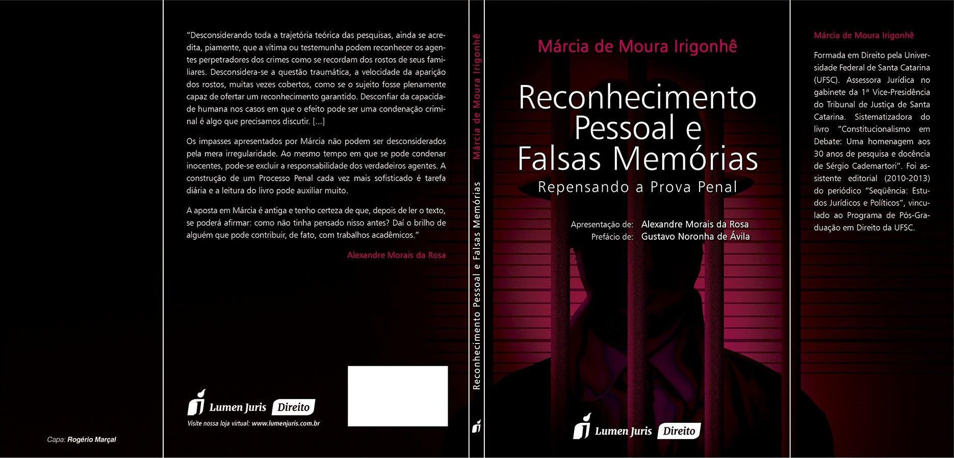 """Lançamento do livro """"Reconhecimento Pessoal e Falsas Memórias"""""""