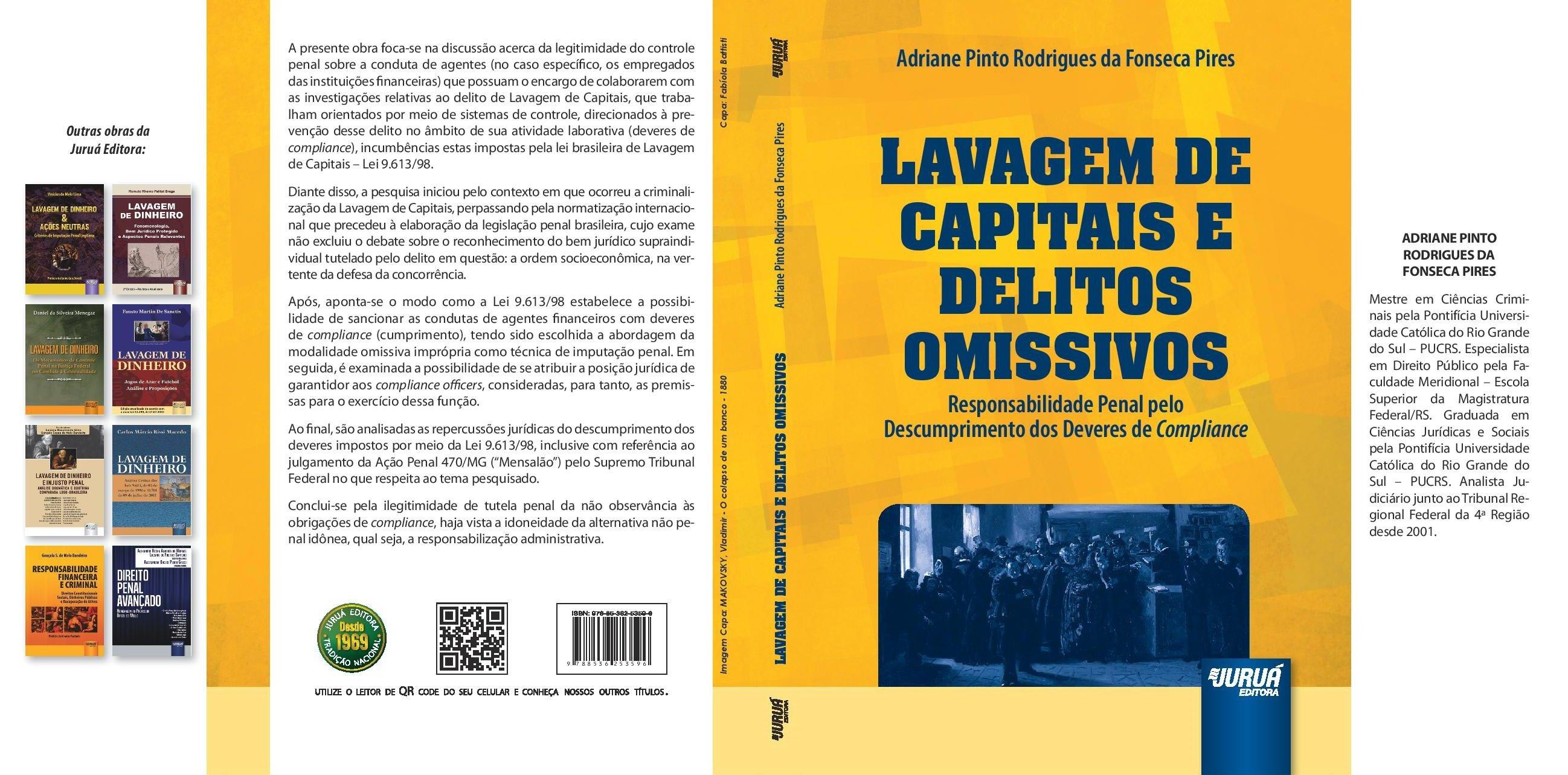 """Lançamento da obra """"Lavagem de capitais e delitos omissivos"""""""
