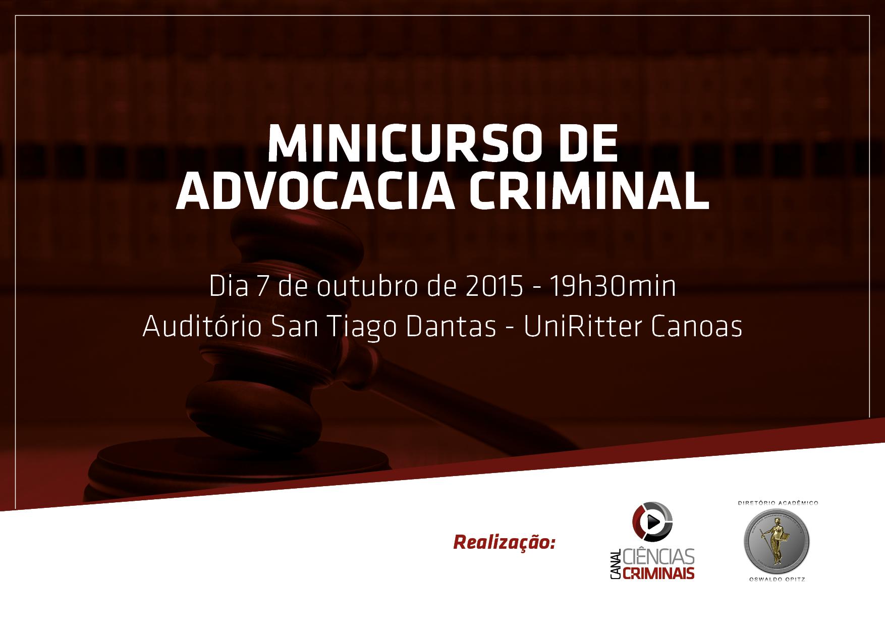 Minicurso de Advocacia Criminal