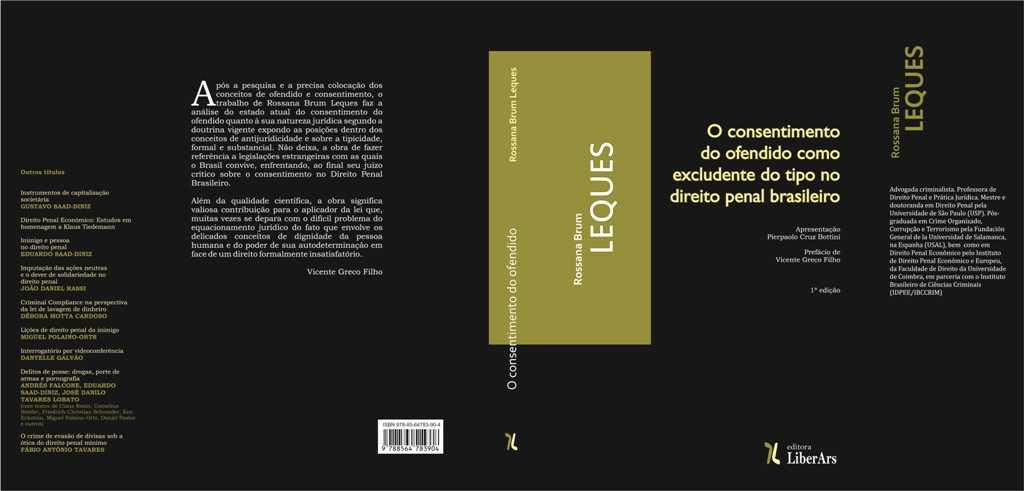 Lançamento: O consentimento do ofendido como excludente do tipo no direito penal brasileiro