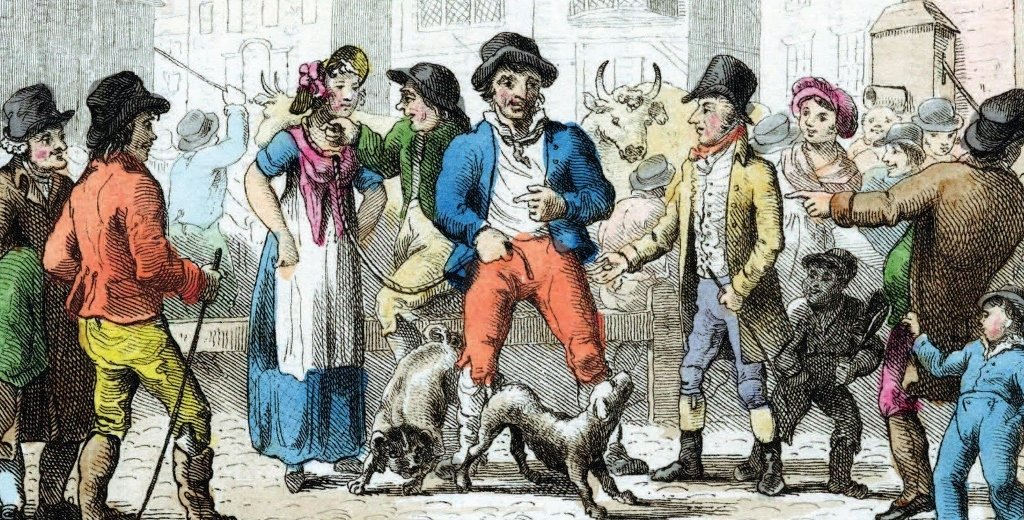 As antigas vendas de esposas na Inglaterra