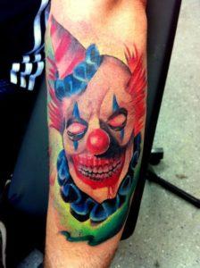 tatuagem palhaço