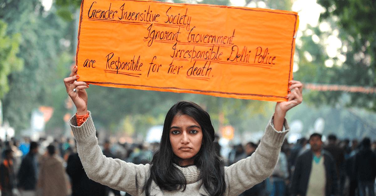 Jyoti protests