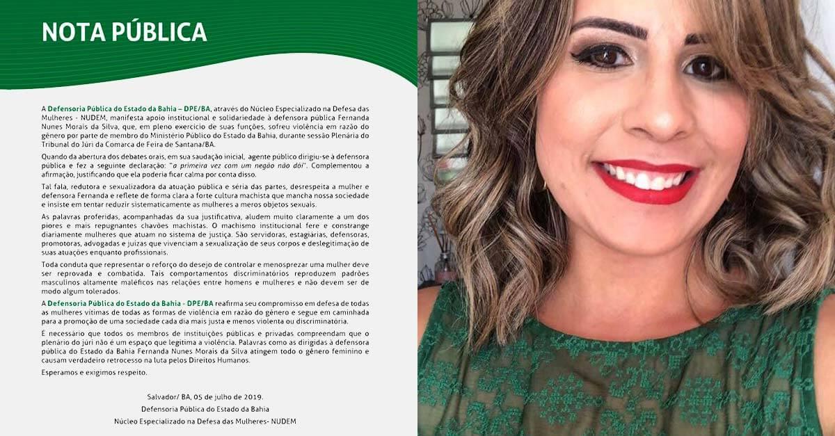 """""""A primeira vez com um negão não dói"""", diz promotor à defensora pública na Bahia"""
