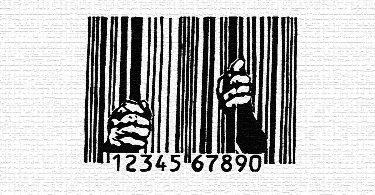 Antes dele sair, coloque a etiqueta nesse ex-detento, por favor