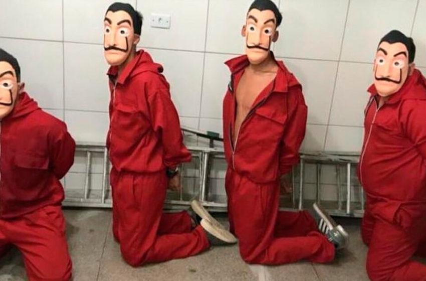 Youtubers que invadiram centro de triagem de detentos com fantasias de 'La Casa de Papel' são condenados