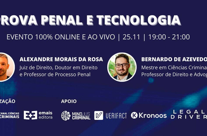 Palestra online sobre Prova Penal e Tecnologia